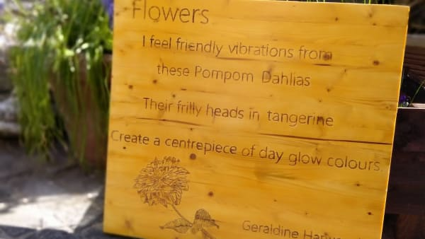 The Meadows Garden Blog: Introducing our Community Poetry Garden