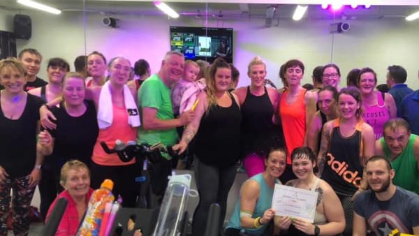 Energie Fitness raises a staggering £1225.01 in a 3 hour spinathon